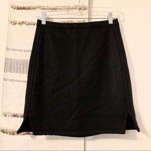 J CREW Mini Pencil Side Slit Skirt Black 0